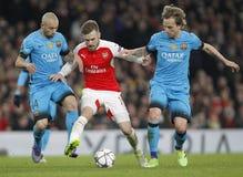 FC Barcelona des Arsenal-FC V - UEFA-Meister-Liga-Runde von 16: Erstes Bein Stockfotografie