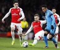 FC Barcelona des Arsenal-FC V - UEFA-Meister-Liga-Runde von 16: Erstes Bein Lizenzfreies Stockbild
