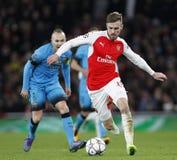 FC Barcelona des Arsenal-FC V - UEFA-Meister-Liga-Runde von 16: Erstes Bein Stockfotos