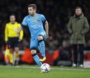 FC Barcelona do arsenal FC v - círculo da liga de campeões de UEFA de 16: Primeiro pé Imagens de Stock Royalty Free