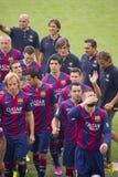 FC Barcelona drużyny prezentacja Zdjęcia Stock