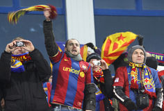 FC Barcelona fans Stock Image