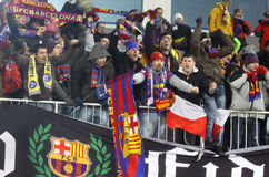 FC Barcelona fans Royalty Free Stock Photo