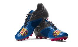 FC Barcelona - Fußballstiefel Stockbild