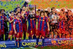 FC Barcelona gana a la liga española Fotografía de archivo