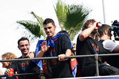 FC Barcelona - ganador 2011 de la UEFA Champions League imagen de archivo libre de regalías