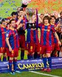 FC Barcelona ganha a liga Fotografia de Stock
