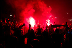 FC Barcelona hooligans Royalty Free Stock Photos