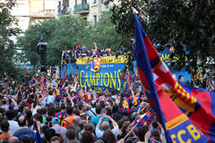 FC Barcelona league champions Royalty Free Stock Images