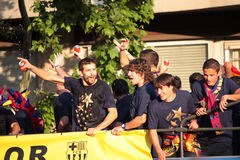 FC Barcelona league champions Stock Photo