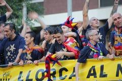 FC Barcelona league champions Royalty Free Stock Photo