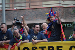 FC Barcelona league champions Royalty Free Stock Photography