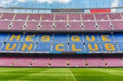 FC Barcelona ' lema de s en el estadio de Camp Nou, Barcelona, Cataluña, imagen de archivo