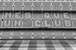 FC Barcelona ' lema de s en el estadio de Camp Nou, Barcelona, Cataluña, fotos de archivo
