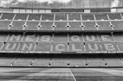 FC Barcelona ' lema de s en el estadio de Camp Nou, Barcelona, Cataluña, foto de archivo libre de regalías