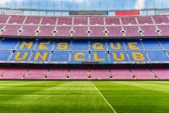 FC Barcelona ' lema de s en el estadio de Camp Nou, Barcelona, Cataluña, foto de archivo