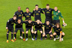 FC Barcelona lineup Stock Photography