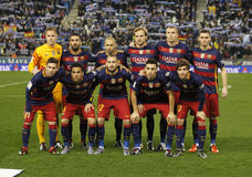 FC Barcelona lineup stock photo