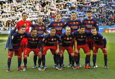 FC Barcelona lineup Royalty Free Stock Images