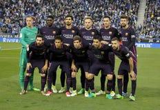 FC Barcelona lineup Royalty Free Stock Photo