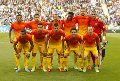 FC Barcelona lineup Stock Photo