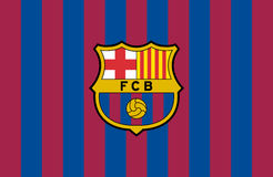 FC Barcelona logo. Barcelona, England March 01, 2017: Vector illustration of FC Barcelona logo. Futbol Club Barcelona, commonly known as Barcelona and familiarly Stock Images