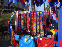 FC Barcelona merchandising Stock Image