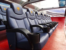 FC Barcelona (Nou Camp) football stadium bench Royalty Free Stock Images