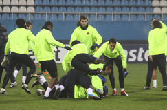 FC Barcelona players Stock Photo