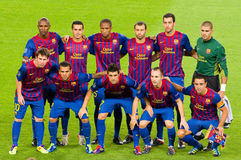 FC Barcelona players Stock Photo