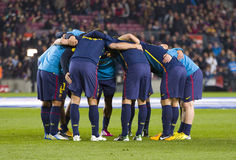 FC Barcelona players Stock Image