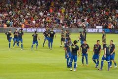 FC Barcelona players stock photos