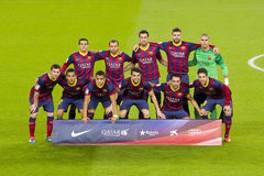 FC Barcelona players Stock Photography