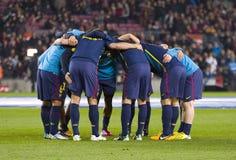 FC Barcelona players stock image