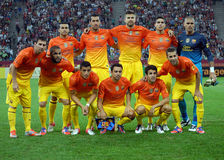 FC Barcelona poses before a game Stock Photography