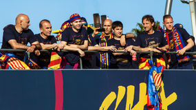 FC Barcelona Spanish League Parade 2016 Stock Photography