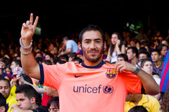FC Barcelona supporter Stock Photo