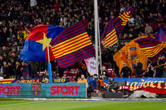 FC Barcelona supporters Royalty Free Stock Image