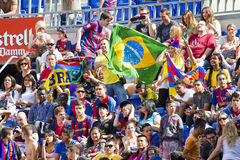 FC Barcelona supporters Royalty Free Stock Photography