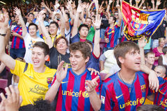 FC Barcelona supporters Royalty Free Stock Photo