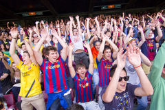 FC Barcelona supporters Stock Photo