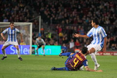 FC Barcelona - tackling Cesc Fabregas Stock Images