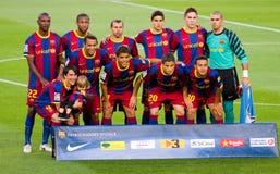 FC Barcelona team Stock Images