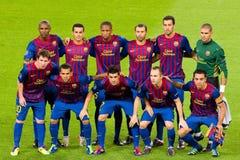 FC Barcelona Team Lizenzfreies Stockbild