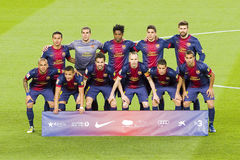 FC Barcelona team Royalty Free Stock Images