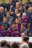 FC Barcelona team presentation Royalty Free Stock Photo