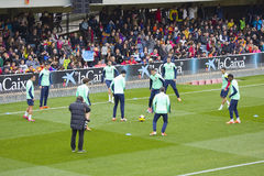 FC Barcelona training session Royalty Free Stock Photos