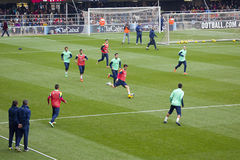 FC Barcelona training session Royalty Free Stock Images