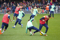 FC Barcelona training session Royalty Free Stock Image