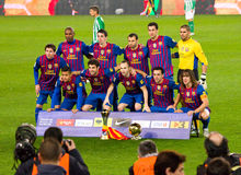 FC Barcelona trophies Royalty Free Stock Photos